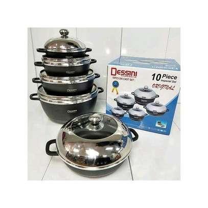 Dessini 10 Pcs Non-Stick Cooking & Serving Pots & Pans image 1