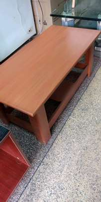 Cherry rectangular coffee table with four stand image 1