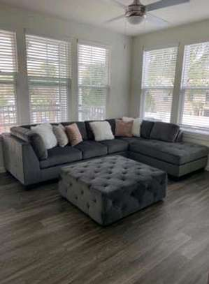 Five seater sofas for sale in Nairobi Kenya/L shaped sofas/Puff image 1