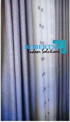 linen light  grey curtains image 1