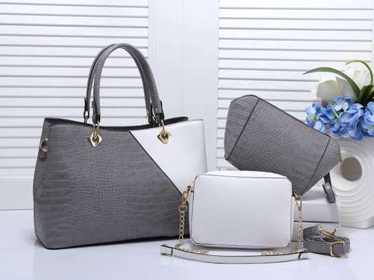 Double Color Leather Handbags