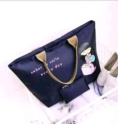 Ladies Canvas Handbags(2 in 1)