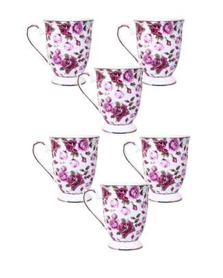6pcsBusy maroon shapely cup