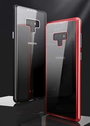 Magnetic Luxury Absorption Cases For Samsung Note 9 Clear Back Glass image 6