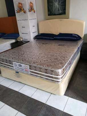 4 by 6 Spring Mattress plus Bed. We deliver. image 2