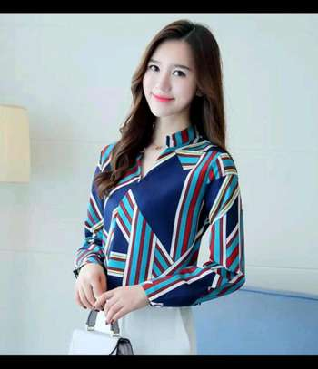 Ladies fancy chiffon blouses image 1