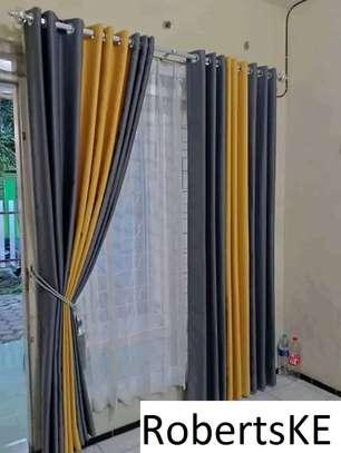 decorous stylish plain curtains image 1