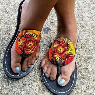 Fashion stylish beaded ladies sandals image 1