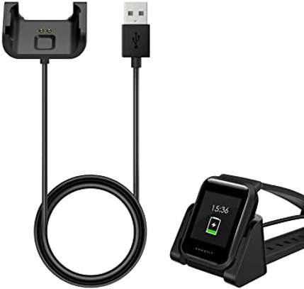 Amazfit Bip Charger, Portable Replacement USB Charger Charging Stand Adapter Station Cradle Dock with Cable for Amazfit Bip image 1