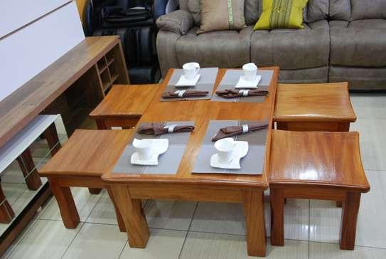 Real mahoganny coffee table image 1