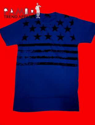 Blue Round-neck T-shirt image 1