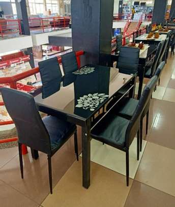 Glasstop dining tables(4/6 seaters) image 2