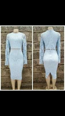Blue lace dress image 1
