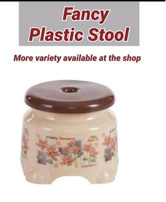 Fancy plastic stools image 1