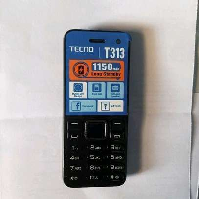 Tecno T313 Feature Phone Dual Sim- FM radio -Black image 1