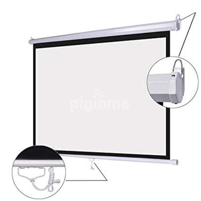 "Manual Wall-Mount 70"" x 70"" Projection screen image 2"