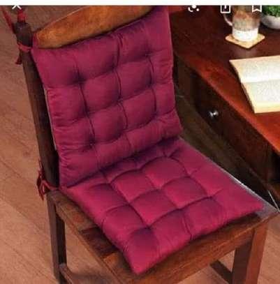 chair pads maroon prints image 1