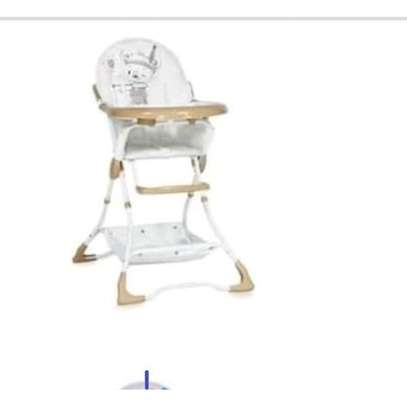 Baby Feeding Chair - Brown & White image 1