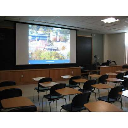 Motorised 120x120 Inch Projection Screen image 1
