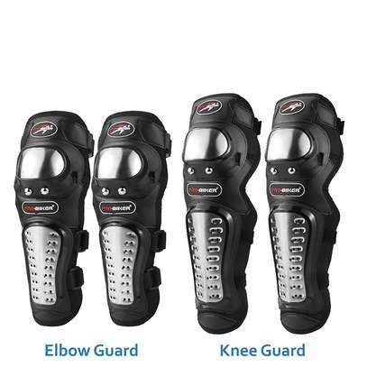 Pro Biker Alloy Steel Elbow, Knee, Shin Guard Protector image 1