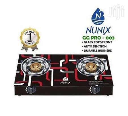 Nunix GG PRO-003 Tampered Glass Gas Table Cooker image 1
