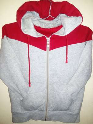 White/red hoody image 1