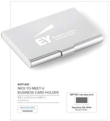 Metallic Card Case Branded image 1