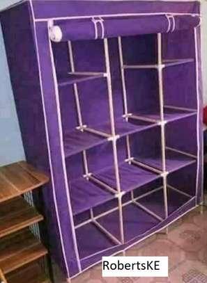 Purple portable wardrobe
