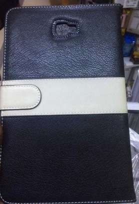 Samsung Logo Leather Book Cover Case With In-Pouch For Samsung Tab A 8.0 inches image 10