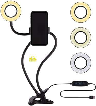 Unifree Professional Selfie Ring Light and Cell Phone & Webcam Holder Stand for Live Stream, Makeup TIK Tok, Vigo, YouTube and Video Recording. image 4