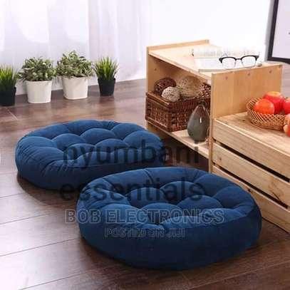 Round Floor Pouf Pillows image 1