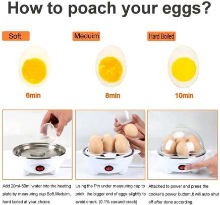 Egg poacher egg cooker egg steamer egg boiler image 5