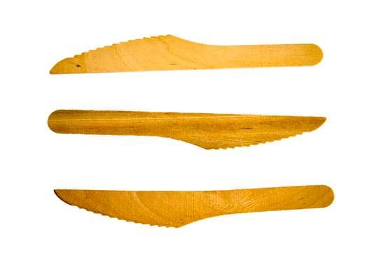 Wooden biodegradable eco-friendly fork & Knife image 2