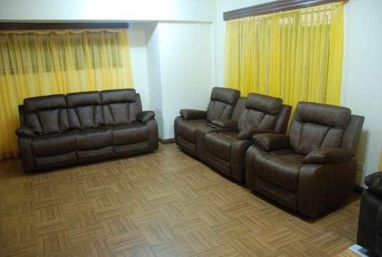 Awesome Brown 6 Seater With Console image 1