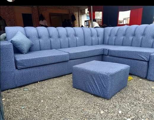 A grey Chesterfield  seven seater. image 1