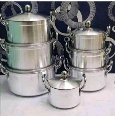 Heavy duty Aluminum cooking pots image 1