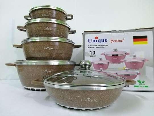 10pc Set Aluminium Granite Aluminium Pots
