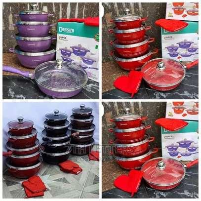 Dessini Granite Non Stick Cooking Pot Colored 12pc image 4