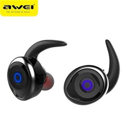 AWEI T1 TWS 4.2 True Wireless Bluetooth Earbuds Sport Headphones image 1