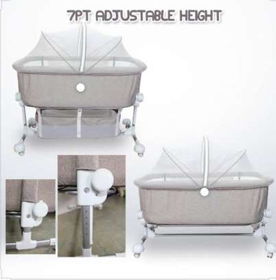 Portable Baby Travel Cot Basinet Side Sleeping Bassinette 110 X 56 X 78cm for 0-24 Months Baby image 4