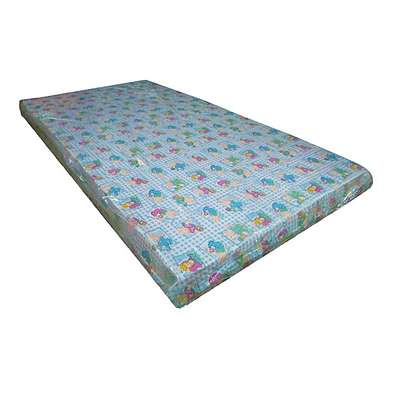 "Multi-Colored Baby Cot Mattress 48"" x 24"" x 4"" (Foam Medium Density Mattress, Firm)"
