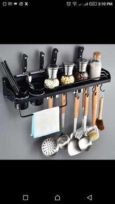Aluminium kitchen shelf (double cup) black 50cM image 1