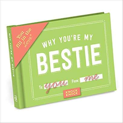 Knock Knock Why You're My Bestie Fill in the Love Journal Diary image 1