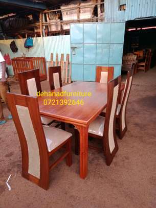 6seater dining table and chairs image 1