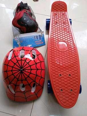 Spiderman skateboard helmet plus guard image 1