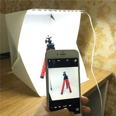 Portable Folding Lightbox Photography Studio Softbox LED Light Soft Box Tent Kit for Camera Photo Background image 1
