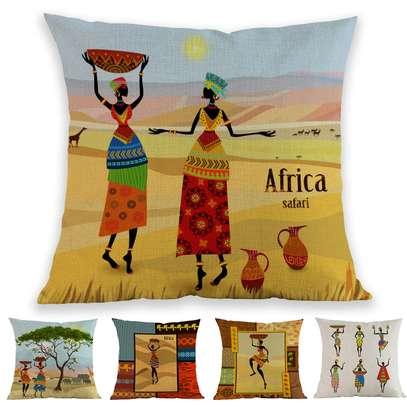 ELEGANT AFRICAN THEME THROWPILLOWS image 1