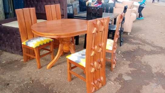 4 seater hardwood dining set image 1