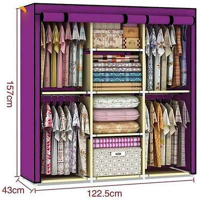 METTALLIC 3 COLUMN WARDROBE