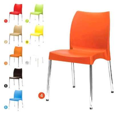 Stackable Plastic Chairs image 1